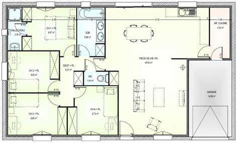 maison plain pied 4 chambres plan interieur de maison plain pied 20170925201446 tiawuk com
