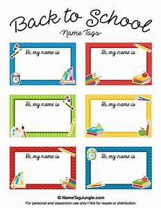 7 best images about name tags on pinterest back to With free school labels template
