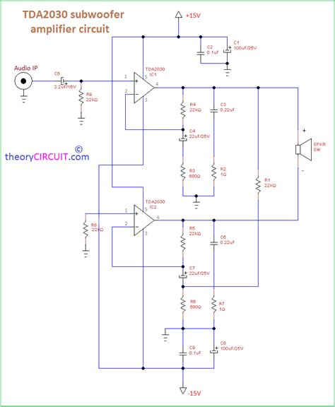 Tda Subwoofer Amplifier Circuit