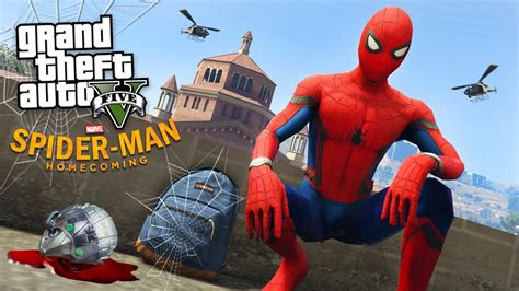 Gta 5 Online Wallpaper Spider Man Homecoming Gta 5 Mods Youtube