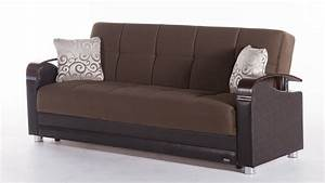 luna sofa bed with storage in naomi brown With luna sofa bed
