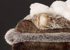 Plaid Fourrure Blanc : plaid dessus de lit en fausse fourrure de luxe chez ksl living ~ Nature-et-papiers.com Idées de Décoration