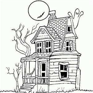 Coloriage maison hantée à imprimer halloween sur ...