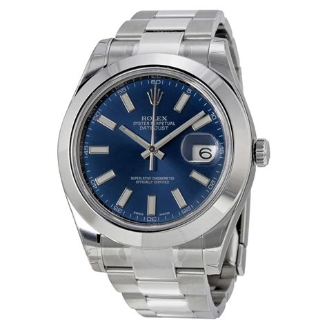 Rolex Pre-owned Datejust II Automatic Chronometer Blue ...