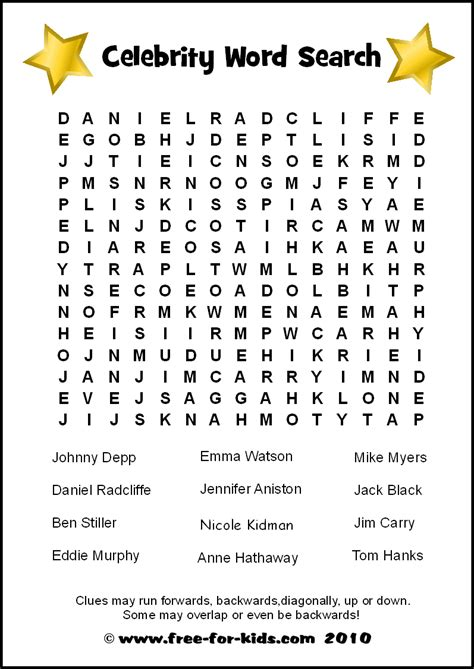 word search 5th grade pdf free printable word search