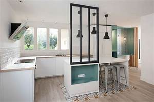cuisine carreaux ciment 12 photos de cuisines tendance With meubles pour petit appartement 14 verrire dintrieur cuisine salon