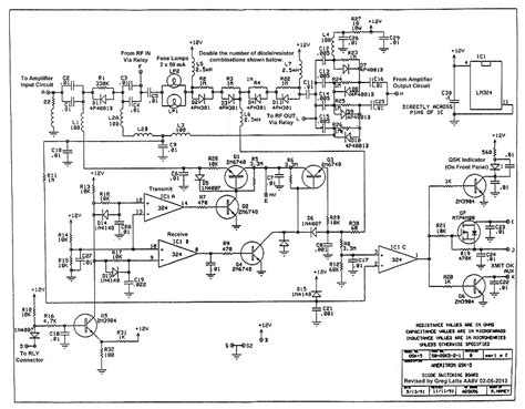 electronic t r switching and the ameritron qsk 5 schematic diagram and circuit descriptions