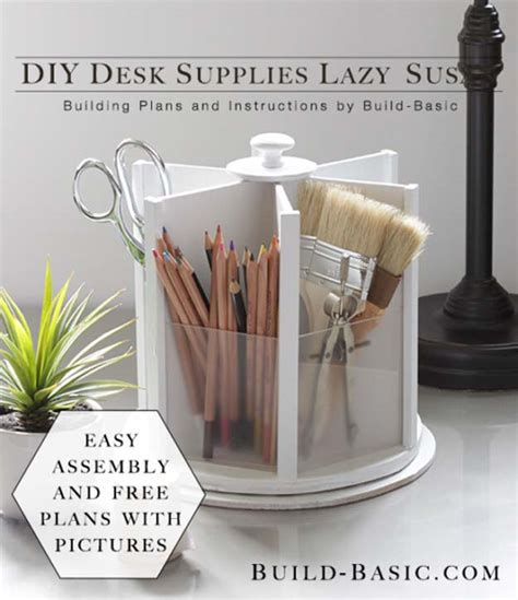 lazy susan desk organizer 35 diy room decor ideas in black and white