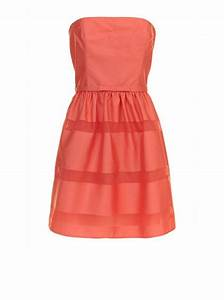 robe bustier a rayures ton sur ton corail robes femme With robes corail