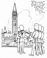 Coloring Pages Canada British Parliament Guard Sheets Redcoat Ottawa Soldiers Changing Building Comments Honkingdonkey Holiday Leave Coloringhome sketch template