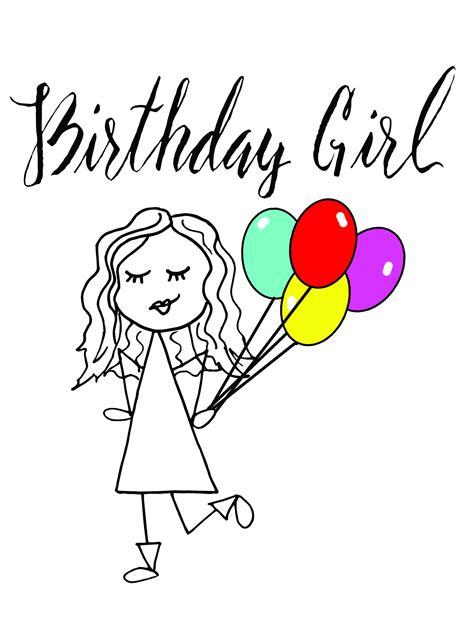 birthday girl drawing  getdrawings