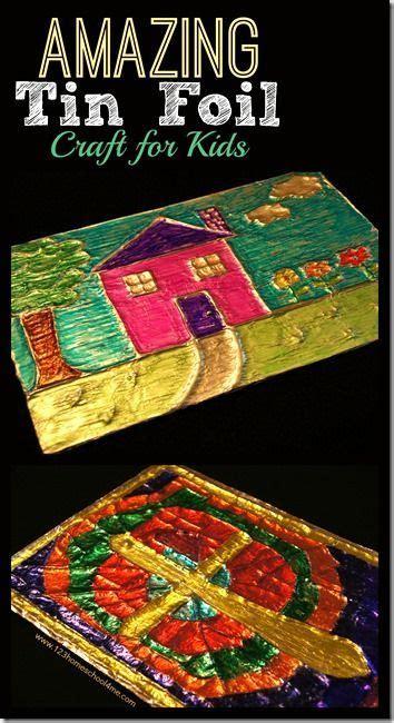 amazing tin foil craft  kids     fun art
