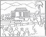 Temple Coloring Pages Lds Building Mormon Hawaii 1923 Temples August History Irvine sketch template