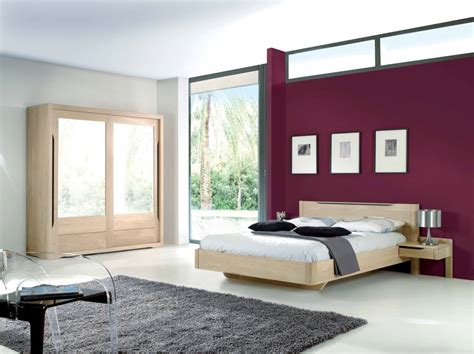 chambre à coucher contemporaine chêne massif lilou