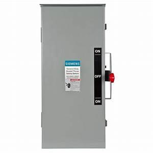Siemens General Duty Double Throw 100 Amp 240