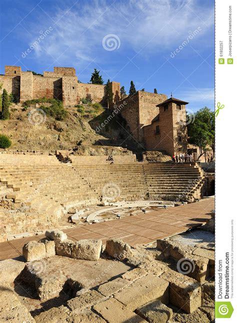 malaga theatre roman spagna andalusia alcazaba roma
