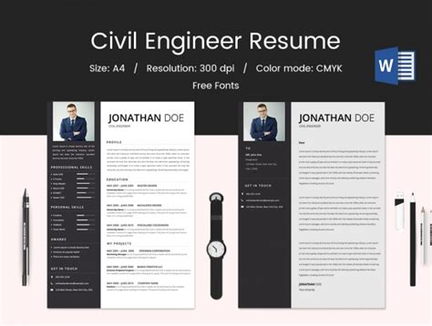 civil engineering resume keywords