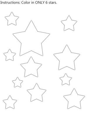 Stars Color In Worksheet