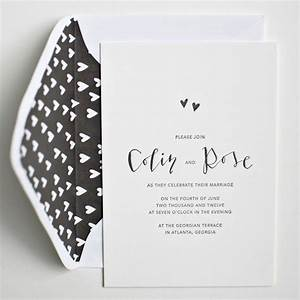best 25 modern wedding invitation wording ideas on With black and white heart wedding invitations