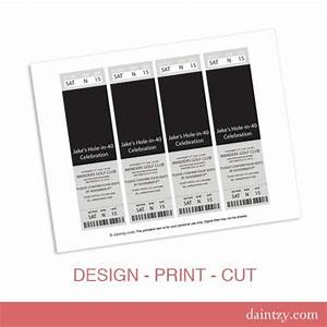 event ticket photo invitation template printable diy With create your own tickets template