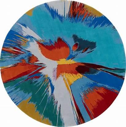 Hirst Damien Spin Prints Painting Rug Urges