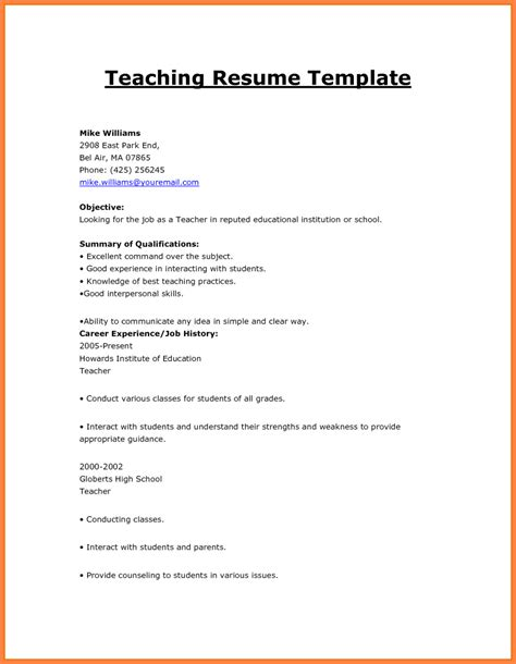 How To Make A Cv Template On Microsoft Word How To Make Resume For Format Cv Template Create