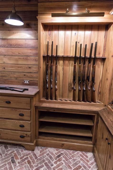 shelf gun safe custom gun room made from reclaimed wood pikeroadmillwork 4203