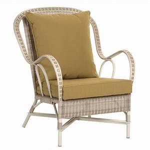 fauteuil de jardin retro en rotin synthetique brin d39ouest With meuble de jardin rotin synthetique