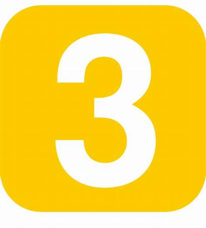 Number Yellow Clip Rounded Square Vector Svg