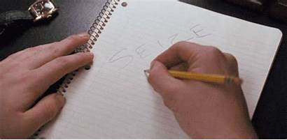 Writing Animated Pencil Notebook Write Hand Gifs