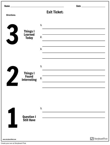 Exit Ticket Template Create An Exit Ticket Exit Ticket Templates And Ideas