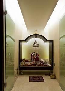 Glass Pooja Room Designs, Pictures, Models, Glass Mandir