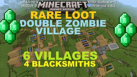 zombie village seed blacksmiths villages mcpe