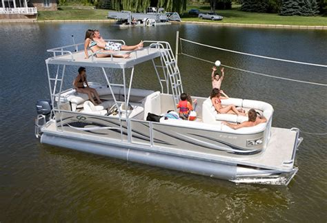 Used Pontoon Boats With Upper Deck For Sale by Research 2011 Crest Pontoon Boats 25 Crest Ii Le Upper