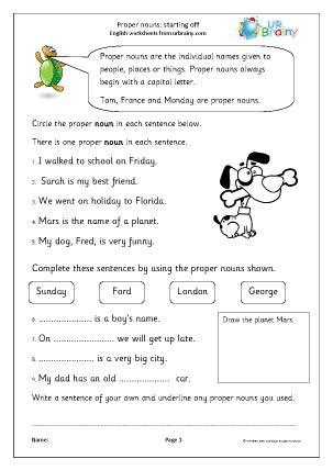 proper nouns starting  ks nouns  urbrainycom