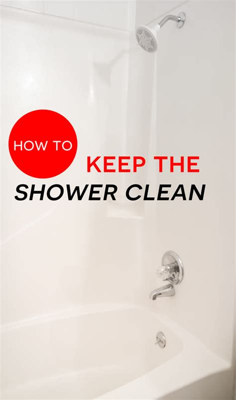 how to keep the shower clean angela says