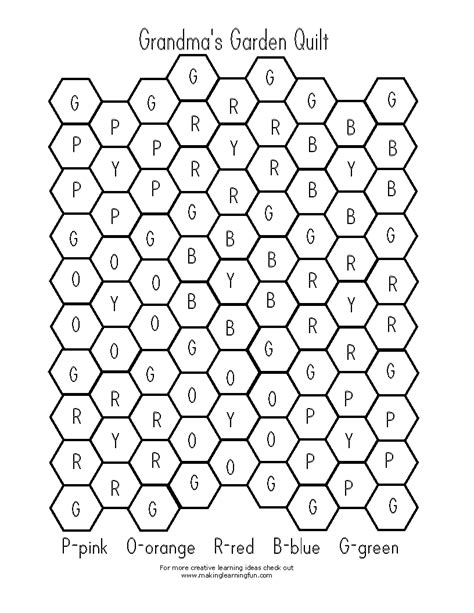 hexagon coloring pages getcoloringpagescom