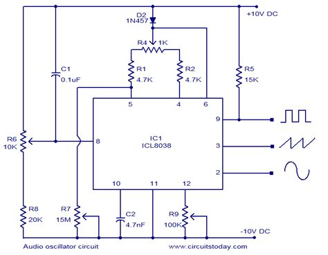 Audio Oscillator Circuit Based Icl Square