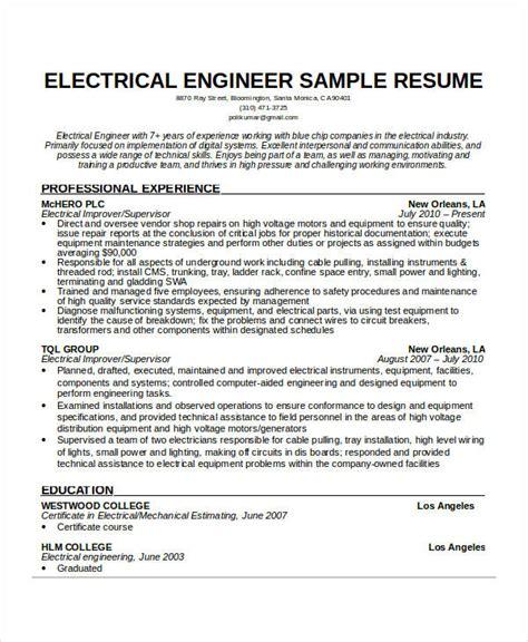 Free Engineering Resume Templates  49+ Free Word, Pdf