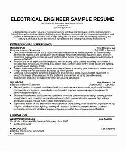 free engineering resume templates 49 free word pdf With sample resume of an electrical engineer