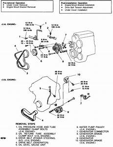 How Do I Remove The Alternator From My 2000 Galant Es 2 4