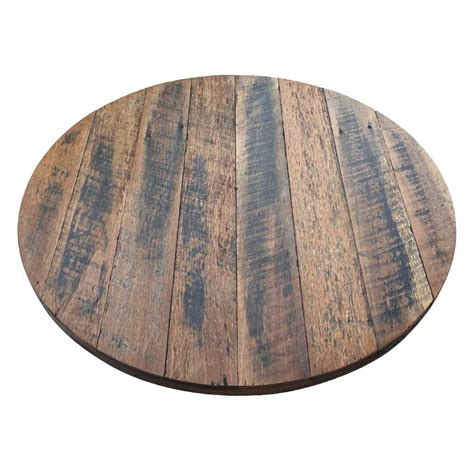 Rustic Recycled Round Wood Table Top  Timber Table Tops  Table Tops  Table Parts Commercial