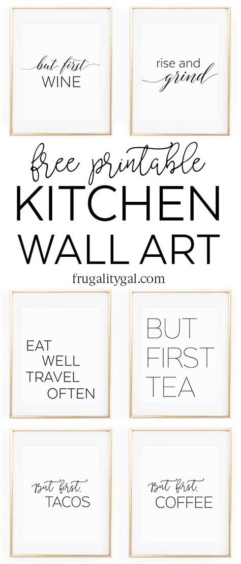 free kitchen printables free printable kitchen wall 8x10 quot set of six prints