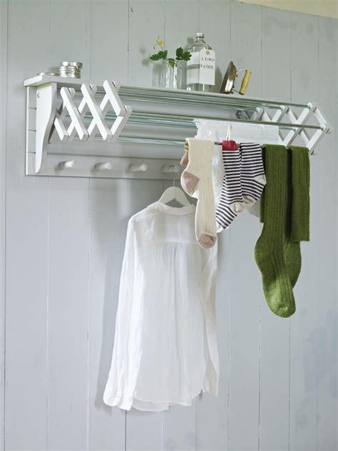 clothes drying racks useful wall mounted drying rack homesfeed