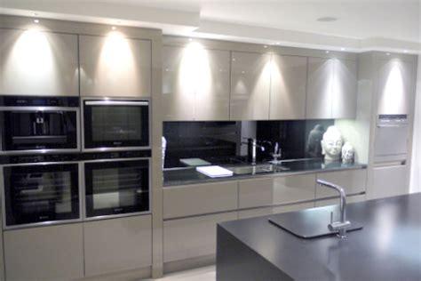 display high gloss handless rotpunkt kitchen island