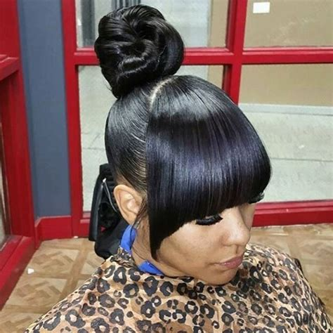 33 best buns bangs ponytails updos hairstyles natural hairstyles