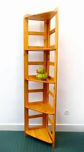 Etagere En Angle : tag re d 39 angle en pitchpin ann es 80 brocnshop ~ Teatrodelosmanantiales.com Idées de Décoration