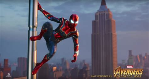 New Spider Man Ps4 Suit Revealed By Insomniac Games