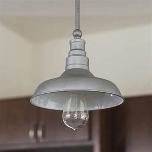 Kimball light galvanized indoor mini pendant at menards?