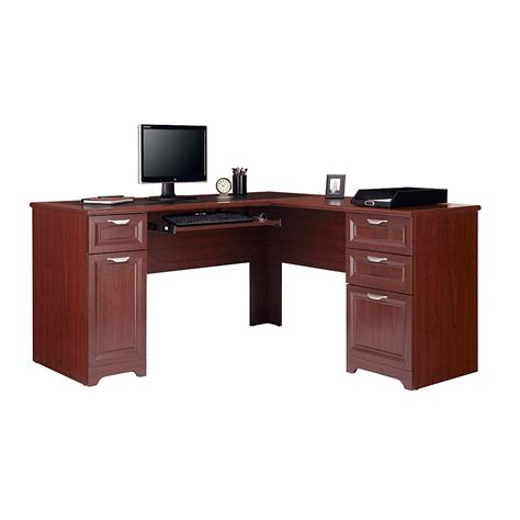 Office Depot Office Furniture by Realspace 174 Magellan L Shaped Desk Classic Cherry Item